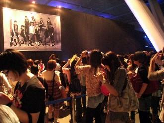 <写真>最新型擬似ライブ体験イベントを行ったSUPER JUNIOR(2011年7月3日)