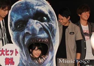 入山杏奈が映画の舞台挨拶に登場、元気な姿をみせる