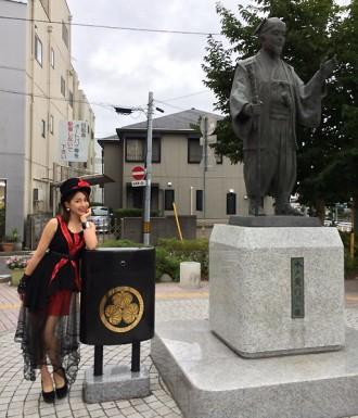 吉川友が地元茨城で凱旋公演、黄門様に祈願(2014年8月9日)