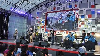 MONKEY MAJIKが吉田兄弟と初セッション(2014年8月18日)