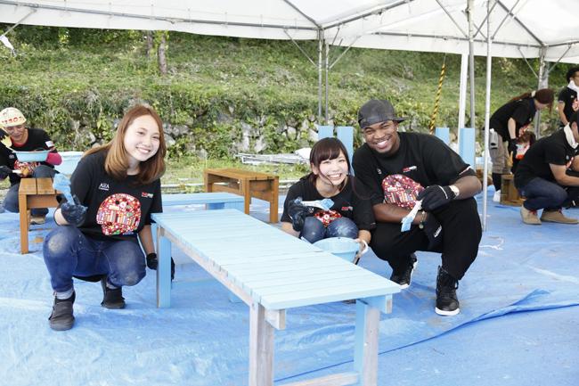 【写真】<RockCorps>NE-YOがボランティアに参加(2014年9月6日)