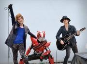 [写真]松岡充「仮面ライダードライブ」と初披露