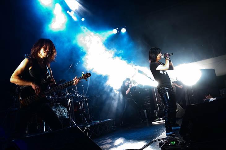 レコ発ライブを行ったKelly SIMONZ's BLIND FAITH(撮影・SHIGEYUKI USHIZAWA)