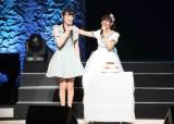 サプライズ出演した松井咲子と岩佐美咲