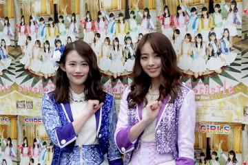 卒業を発表したスパガ勝田梨乃(左)と荒井玲良