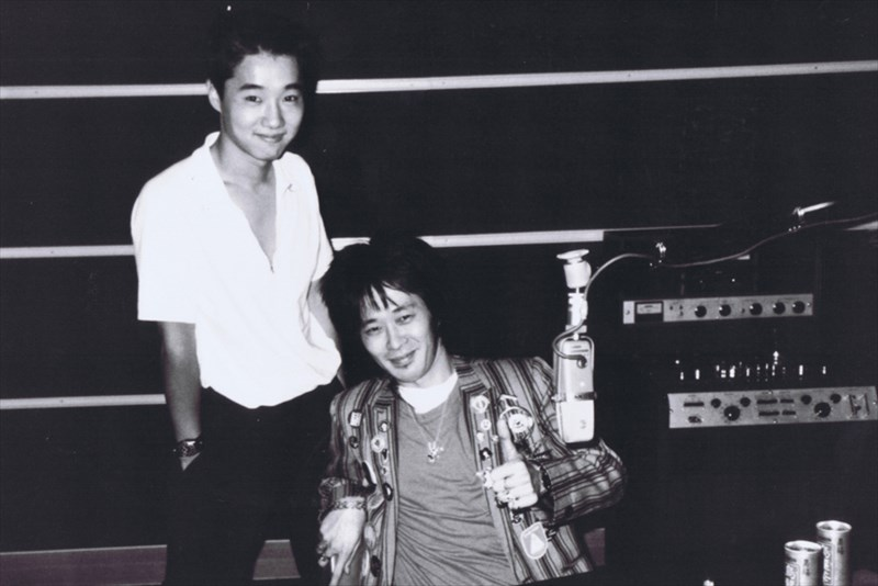 忌野清志郎と初代ボーカル宮城宗典との2ショット