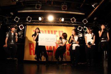 新バンド結成を発表した増子と、ひめキュンメンバー(撮影・オオタシンイチロウ)