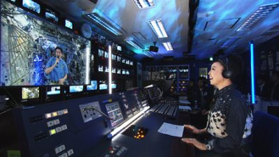 国際宇宙ステーションとの交信のもよう