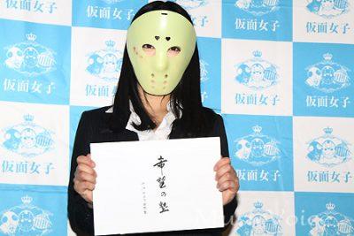 あくまでも「アイドルの立場」で活動を続けていくと述べた仮面女子の桜雪(撮影・桂 伸也)