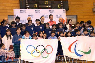 東京2020 オリンピック・パラリンピックフラッグツアーのようす(撮影・松尾模糊)