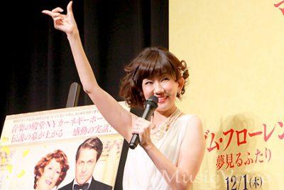 アカペラで「センチメンタル・ジャーニー」を披露する松本伊代(撮影・小池直也)