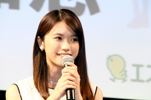 「赤毛のアン」制作記者発表会に出席した美山加恋