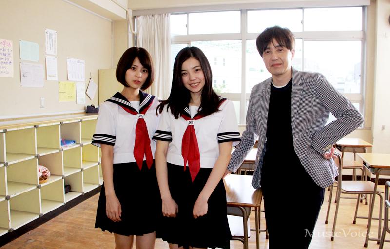 243(中央)と吉崎綾、鶴久政治