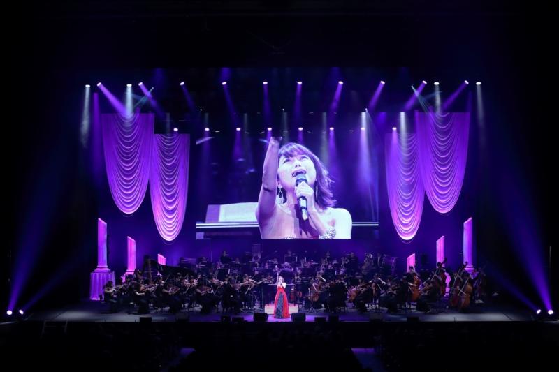 オリンピックコンサート2017に出演した新妻聖子
