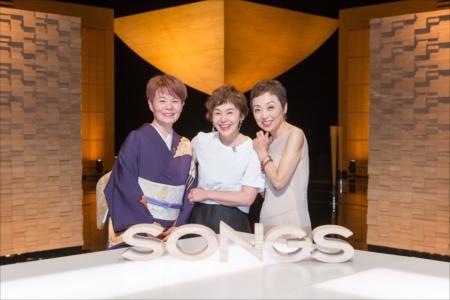 「SONGS」に出演する、左から島津亜矢、大竹しのぶ、クミコ
