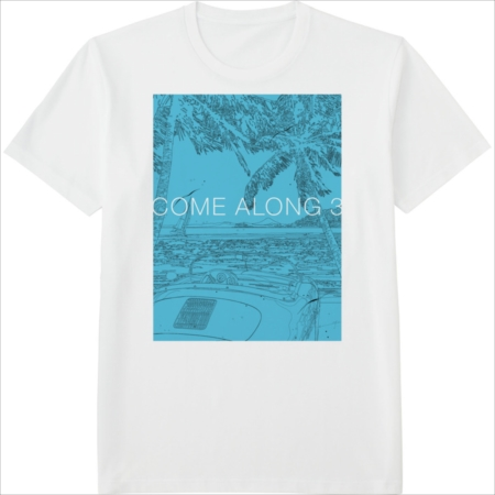 『COME ALONG 3』のジャケットを使用して制作したTシャツ