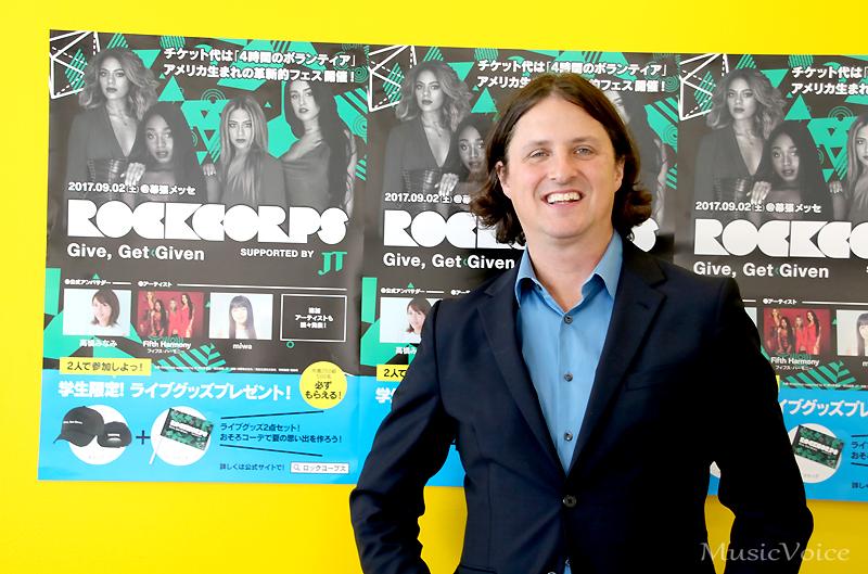 ボランティア活動を文化にしたいと語る「RockCorps」共同創設者兼CEOのスティーブン・グリーン氏