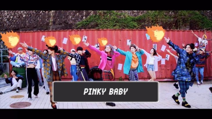「PINKY BABY」のMVのワンシーン