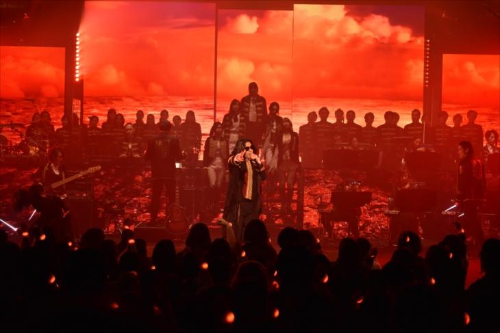全国ツアー『Linked Horizon Live Tour 2017 「進撃の軌跡」』の最終公演のもよう(撮影=佐藤祐介)