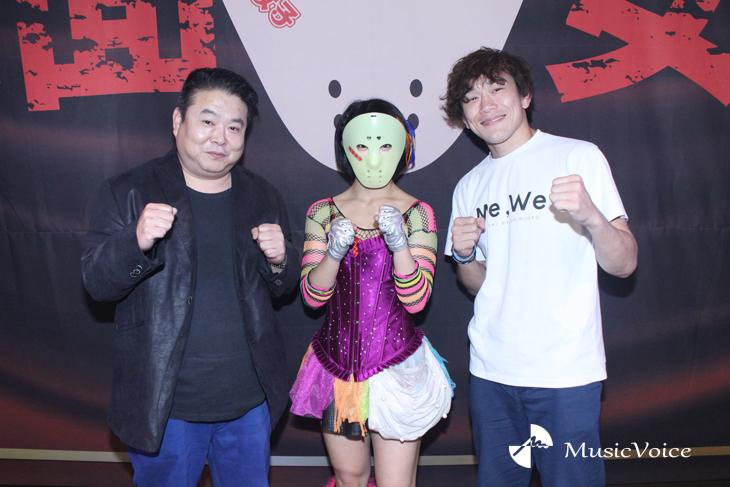 佐伯代表と川村虹花、そして山崎コーチ