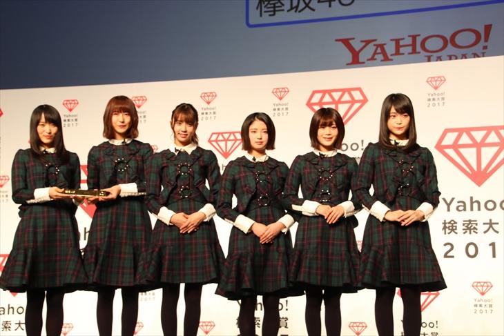 2年連続で「アイドル部門賞」を受賞した欅坂46