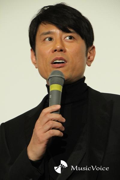 初日舞台挨拶に出席した原田泰造