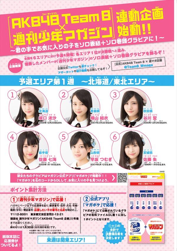 AKB48チーム8「マガジン」ソロ表紙争奪戦・予選概要