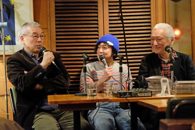 写真左から後藤雅洋さん、柳樂光隆さん、村井康司さん(シンコ-ミュージック・エンタテイメント)