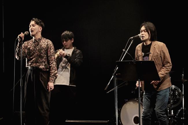 WONKと堀込泰行(Photo by 立脇卓)