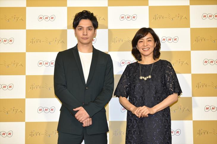 『ボディーミュージアム』でMCを務める生田斗真と八木亜希子
