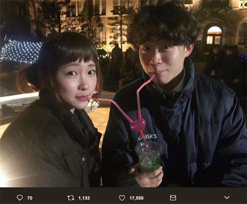 川栄李奈、矢本悠馬とのカップルショットに「羨ましい」の声