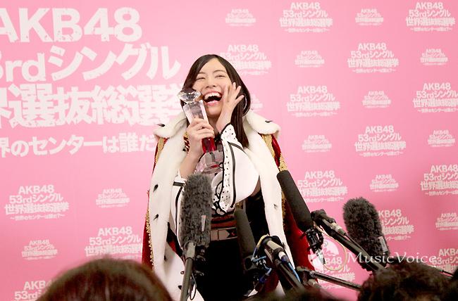 松井珠理奈、初女王で実感した指原莉乃の偉大さ「改めて尊敬」