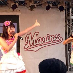 千葉ご当地アイドルがマリン球場で熱唱