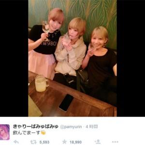 """写真=きゃりー&Saori&最上""""豪華女子会"""""""