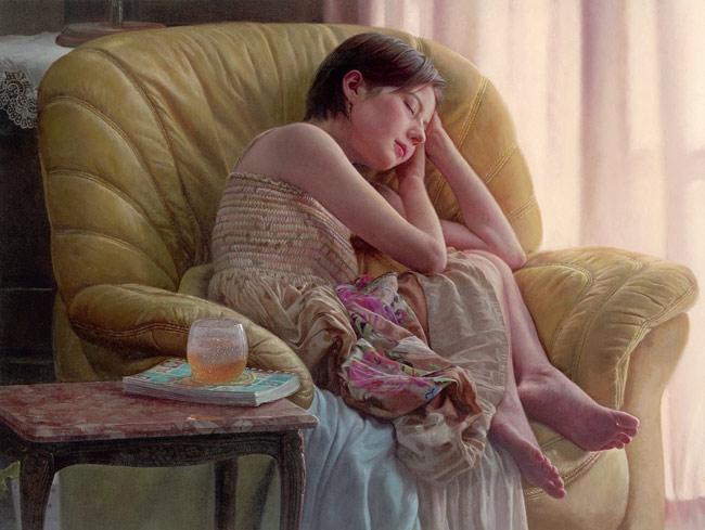 ベッキーモデルの絵画「呼吸」新宿に展示、「一枚の絵画展」開催