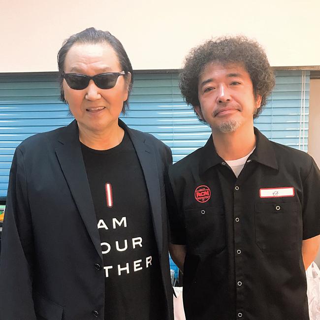 井上陽水と奥田民生の2ショット...