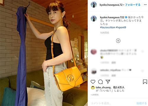長谷川京子、タンクトップの夏服姿にファン「憧れです」「美しい」